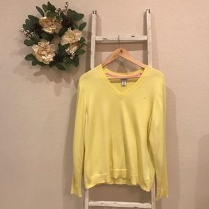 [Lilly Pulitzer] Yellow V-Neck Sweater
